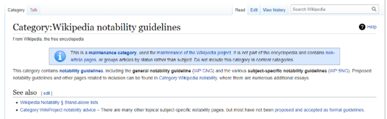 Principle of Notability