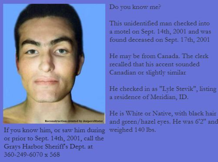 Lyle Stevik, The Unidentified Suicide Victim